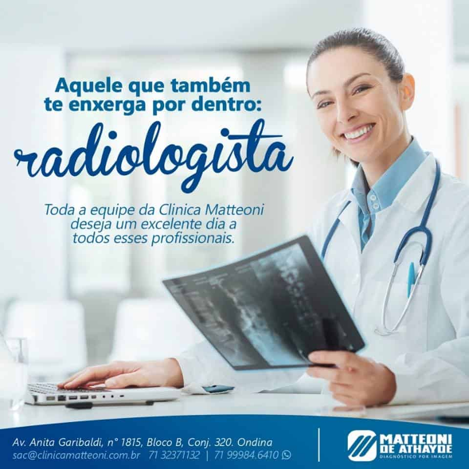 Hoje é o dia do radiologista